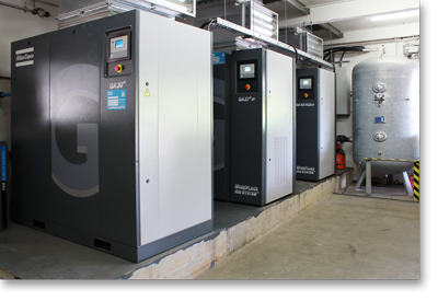 Oil-Injected Compressor Installation